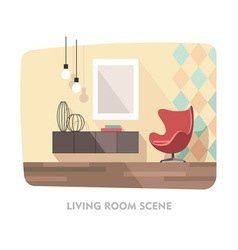 Interior Living Room Modern Furniture vector image