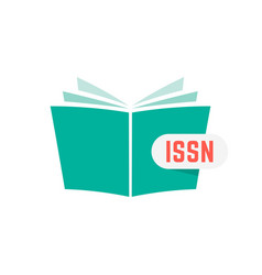 Issn sign with green book vector