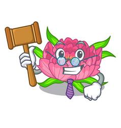 Judge peony flower grow in mascot stems vector