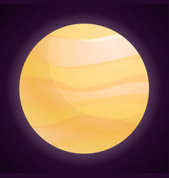 jupiter icon cartoon style vector image