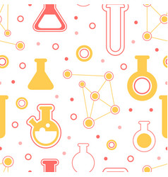 laboratory equipment seamless pattern pharmacy vector image