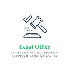 Legal office services law firm judge gavel vector