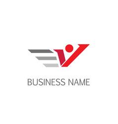 letter v active logo vector image