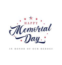 Memorial day usa lettering inscription poster vector