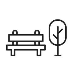monochrome simple city park area icon vector image