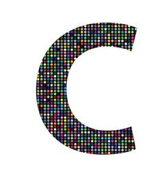 Multicolor letter C vector