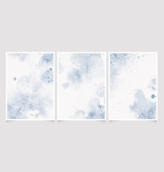 navy indigo blue watercolor wet wash splash on vector image