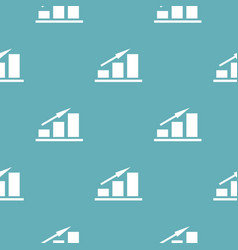 new chart pattern seamless blue vector image