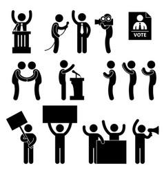 Politician reporter election vote a set vector