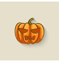 Pumpkin halloween symbol vector