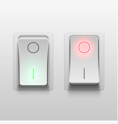 Realistic 3d electric toggle switches vector