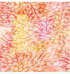 Seamless floral grunge beige gradient pattern vector