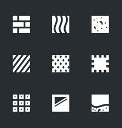 Set flooring icons vector