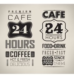 Set of coffee labels vector