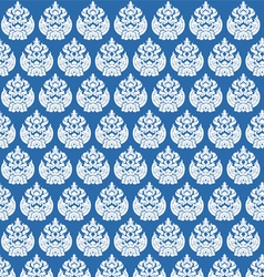 Silver art on a blue vector
