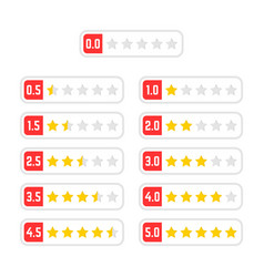 Simple set of rating star badge vector