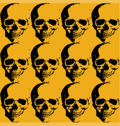 skulls and roses collage background with several vector image