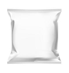 snack bag food pouch template mockup foil sachet vector image