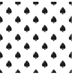 Spade symbol plying card pattern vector