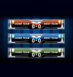 sport elements scoreboard vector image