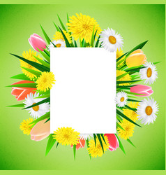 spring or summer banner background template with vector image