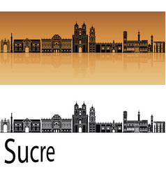 sucre skyline vector image