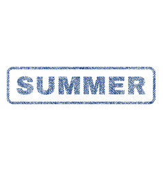Summer textile stamp vector