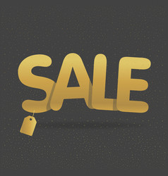 Super sale offer poster banner golden text vector