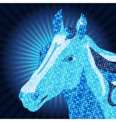 Symbol of 2014 Mozaic Horse vector image