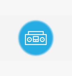 tape recorder icon sign symbol vector image