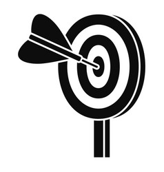 target solution icon simple style vector image