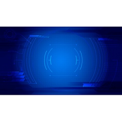 Technology abstract background dash board panel vector image