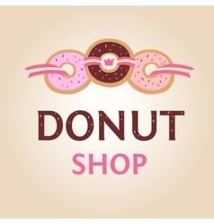 Template logo for donut shop vector