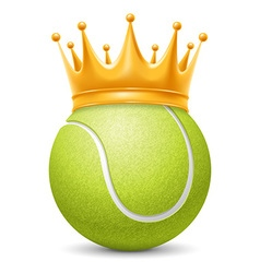 Tennis ball in crown vector