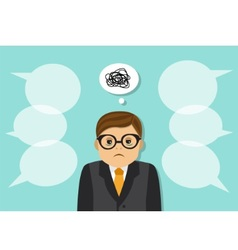 tired sad businessman vector image