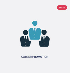 two color career promotion icon from professions vector image