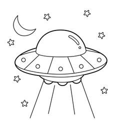 Ufo coloring page vector