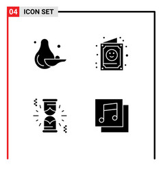 User interface solid glyph pack modern signs vector