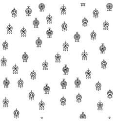 various jewelry earrings seamless pattern vector image