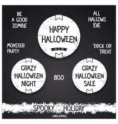Vintage Halloween label vector