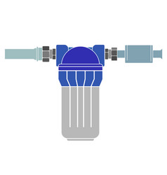 water purification filter pipe connection vector image
