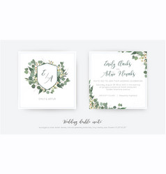 wedding double invite invitation save date vector image
