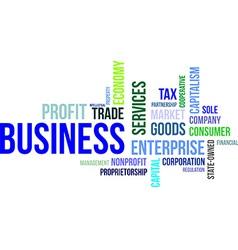 Word cloud business vector