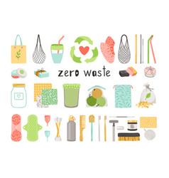 zero waste items vector image