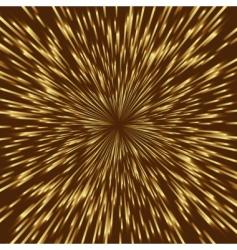 golden fireworks vector image