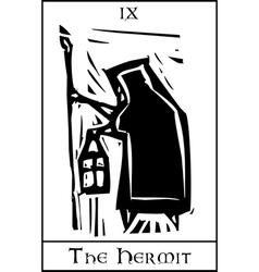 Tarot Card Hermit vector image