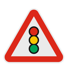 traffic light icon flat style vector image vector image