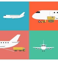Air shipping and logistics icon set vector image