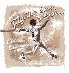 Baseball Flyball slugger vector image
