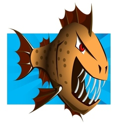 Cartoon Piranha - vector image